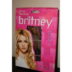 Britney Spears Foil Valentines Cards and seals (30 count