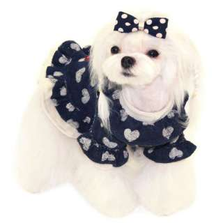 DRESS SWEET DREAM dog clothes heart apparel PUPPY ZZANG