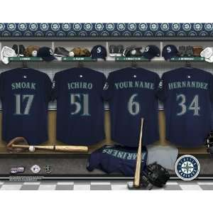Personalized Seattle Mariners Locker Room Print Sports