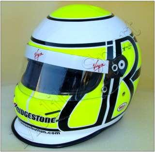2009 Brawn GP Jenson Button F1 Replica Helmet Scale 11. Real