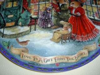 Susan Wheeler Christmas Comes To Primrose LOVE GIFT Plate Bx+COA