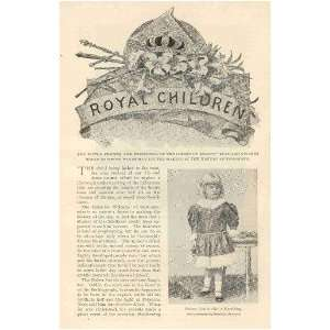 1896 Royal Children Germany Russia Austria Bulgaria