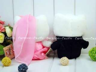 Hello Kitty Wedding Plush Dolls Pink/Black 2pcs 27598