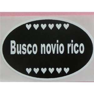 Busco Novio Rico Wants Rich Boyfriend Espanol   Sticker