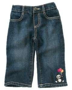 Gymboree Panda Academy Gem Heart & Embroidered Panda Jeans New Girls 2