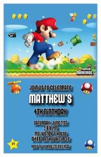 Setof10 Super Mario Bros. Personalized Invitations B
