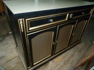 Gold Gilt Neoclassical Buffet Server Credenza Hollywood Regency