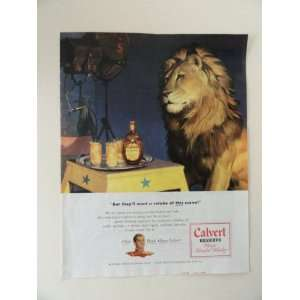 Calvert whiskey. Vintage 40s full page print ad. (tray of