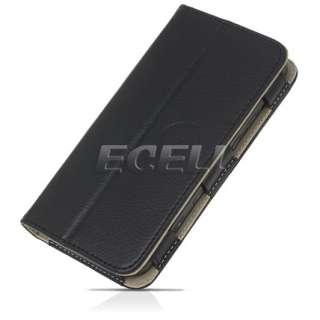 Style Range   Leather Wallet Case Stand for Dell Streak Mini 5   Black