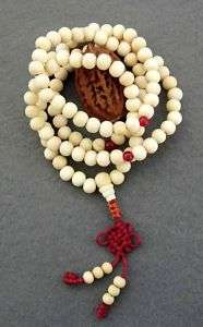 108 Wood Beads Tibetan Buddhist Prayer Mala Necklace