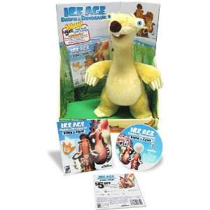 Ice Age 3 Dawn Of The Dinosaurs Large Plush   SID w/Promo Disc Toys
