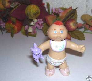 CPK CABBAGE PATCH KIDS BABY FIGURE RED MOHAWK AND BUNNY