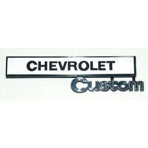 69 72 GM TRUCK GLOVE BOX DOOR EMBLEM CHEVROLET CUSTOM