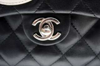 AUH CHANEL Ligne Cambon Large Mulipocke Black Lambskin Reporer