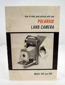 POLAROID LAND CAMERA 160 AND 800 OPERATING MANUAL