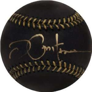 Joe Pepitone Autographed Black Leather Baseball Sports
