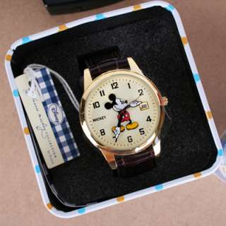 AUTHENTIC DISNEY]Brand New MICKEY MOUSE watch with Date Gift case