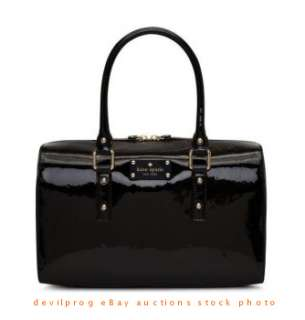 NWT KATE SPADE flicker melinda Satchel Handbag Black Patent Leather