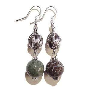 The Black Cat Jewellery Store Snake Agate & Antique Silver