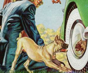 1947 Ad ~ General Squeegee Tire ~ Pit Bull PITBULL Dog