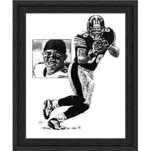 Framed Hines Ward Pittsburgh Steelers