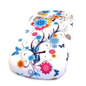 Samsung R355c Butterfly Blue Tattoo Flower Vine Rubberized