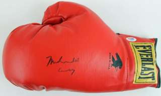MUHAMMAD ALI CASSIUS CLAY AUTHENTIC SIGNED BOXING GLOVE RARE PSA