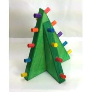 Standing Christmas Tree House Rabbit Toy