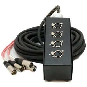 Channel XLR Send Sub Snake Cable   35 Feet Musical Instruments