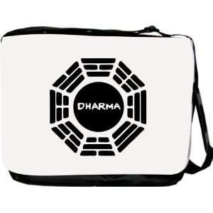 Rikki KnightTM Dharma Logo Messenger Bag   Book Bag   Unisex   Ideal