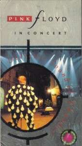 VHS PINK FLOYD IN CONCERTDELICATE SOUND OF THUNDER