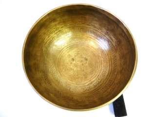 R367 SOLAR E CHAKRA HEALING VIBRATING TIBETAN SINGING BOWL 7