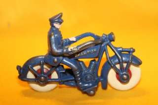 Vintage Large Toy Cast Iron Hubley Police Champion Motorcycle