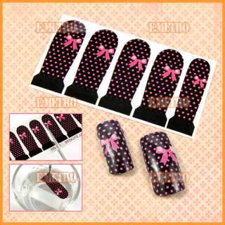 25 Designs Nail Art Water Decal Sticker Full cover tips