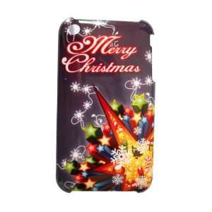 Merry Christmas Hard Case (Black) for iPhone 3G / 3GS