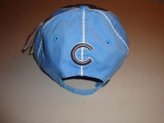 Chicago Cubs Retro Baseball Cap Light Blue Trim & logo