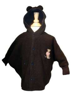 Catimini Boutique Boys Girls Wool Navy Blue Cape Poncho Coat Jacket 67