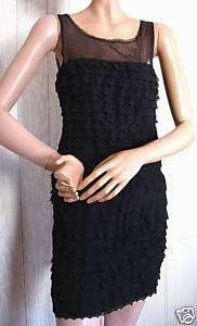 Black Sheer Top Lace BCBG Max Azria Formal Dress NWT 6