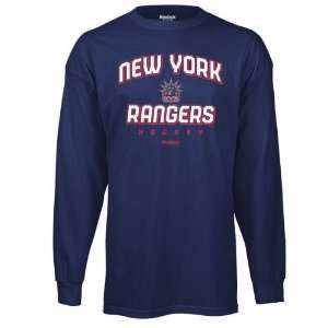New York Rangers Blue Prima Italic Long Sleeve T Shirt