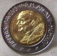 POPE JOHN PAUL II / CAIN SLAYING ABEL VATICAN 95 COIN