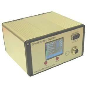 Smart LiFePO4 Battery Pack With Color LCD Monitor: 12.8V 6