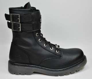 HARLEY DAVIDSON Archie Black Leather Riding Boots Men Size 95099