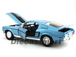 MAISTO 118 1968 FORD MUSTANG GT COBRA JET DIECAST BLUE