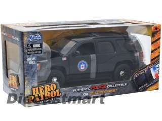 24 2010 CHEVY TAHOE CIA NEW DIECAST MODEL POLICE CAR BLACK