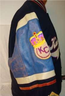 Kansas City Monarchs Leather Wool Jacket Negro League