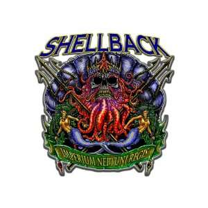 Six Pack of 3.8 US Navy ShellBack Decal Sticker