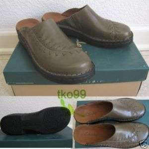 NEW Clarks Womens Jaclyn Clog Mule Slides Shoe 7 GREEN