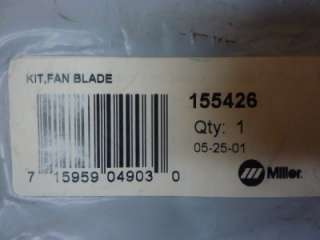 NEW Miller Electric Fan Blade Kit 155426 Black #30707