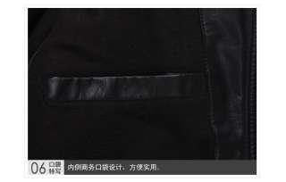 Mens PU Winter Leather Warm Jacket Coat Size M L XL XXL