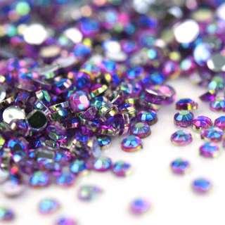 10000pcs 1.5mm Purple Iridescent Rhinestones Nail Art